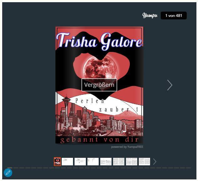 Trisha Galore - Leseprobe Band 1 Perlenzauber-Trilogie - Gebannt von dir.