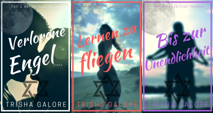 Zeitlos-Trilogie - alle drei Cover